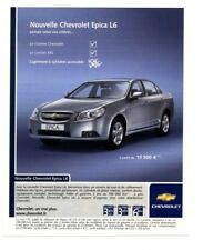 2006 : Voiture chevrolet Epica L6 – Automobile (publicity, advertising), (pub335