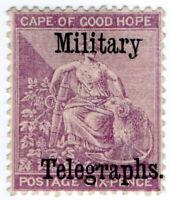 (I.B-BOB) Cape of Good Hope : Military Telegraphs 6d
