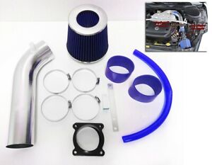 BLUE For 2003 2004 2005 2006 Infiniti G35 3.5L V6 Air Intake System Kit + Filter