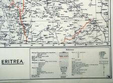 British WW2 Mulberry Leaf Tissue Map: Eritrea
