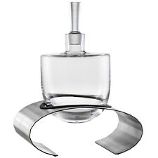 Eisch Glas Crystal Glass Whisky / Spirit Decanter 1L - Stainless Steel Base