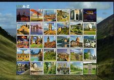 SG MS3308 UK A- Z Stamps Sheet 2012 MNH