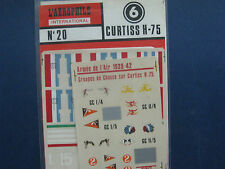 Vintage France Curtiss H-75 ABT Model Airplane Decal #20 1:72