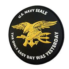 the only easy day US navy seals PVC 3D badge seal tag hook patch