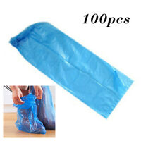 100x Anti-Slip Disposable Shoe Covers Over Knee Boots Cover Overshoes Waterproof