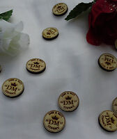Personalised Lucky Sixpence x50 Wedding Favours Decorations Keepsake Birch