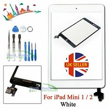 For iPad mini 1/2 Touch Glass Digitizer Replacement Screen +IC Home Button White