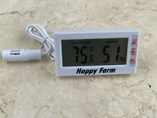 DIGITAL EGG INCUBATOR THERMOMETER HYGROMETER / REMOTE