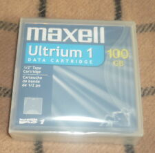 Maxell 183800 Ultrium 1 LTO1 100/200GB Data Tape Cartridge New! Factory Seeled