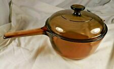 New ListingCorning Ware Visions Amber Glass Cookware 2.5L Sauce Pot with Pyrex Lid