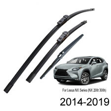 Front Rear Wiper Blades Set For Lexus NX Series (NX200 NX200t NX300h) 2014-2019