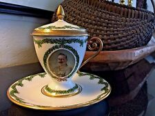 Rare Hutschenreuther Selb Kaiser Wilhelm Cup, Saucer & Lid c.1917 Germany WW1