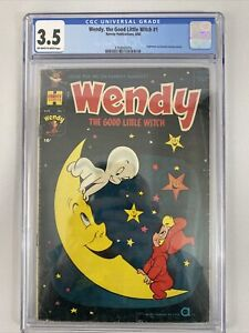 Wendy The Good Little Witch #1 CGC 3.5! RHTF! Harvey Comics 1960!