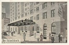 "*New York Postcard-""The Hotel Woodstock"" /Near Times Square/"