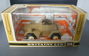 Britains 9784 8th Army Scout Car Reproduction Painted Plastic Driver Figure