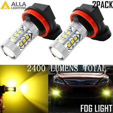 Alla Lighting 3000K H16 Type 2 Golden Yellow 16-LED Fog Driving Light Bulb Lamp