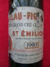 Château Figeac 1990 St Emilion Bouteille Vin vide Etiquette bottle Wine Label