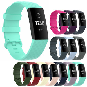 For Fitbit Charge 3 4 Strap Colourful Replacement Wristband Silicone Buckle Band