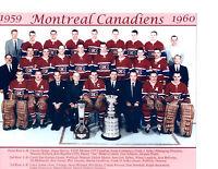1959 1960 CHAMPIONS MONTREAL CANADIENS 8X10 TEAM PHOTO HOCKEY NHL STANLEY CANADA