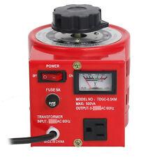 Pro Transformer Variable AC Voltage Regulator Metered 500W 5Amp 0-130V US