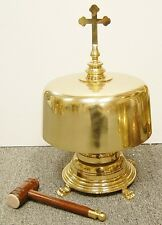 WONDERFUL LARGE CHURCH GONG / BELL WITH MALLET  - 167 - (CHURCH)