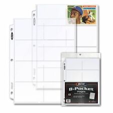 Trading Card 8 Pocket Display & Storage Page x 20 pack