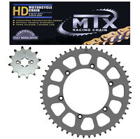 Kawasaki KX125B1 KMX125 chain & sprocket kit, 520 MTX h/duty GOLD chain upgrade