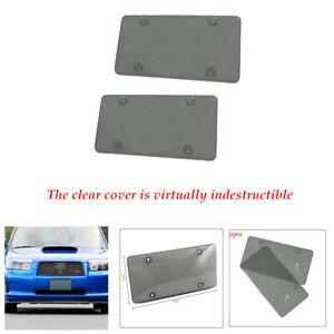Size U.S. 2PCS/Set Novelty License Plate Cover Tag Frame Shield Tinted Flat Car