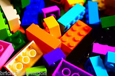 ☀️500 X LEGO 2x4 BRICKS MIX LEGOS ALL COLORS HUGE BULK LOT PARTS PIECES @ RANDOM