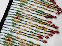 long beaded fringe for lampshade -sold by yard- 0064