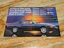 1983 Mitsubishi Starion Turbo Original Magazine Advertisement