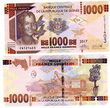 Guinee GUINEA Bilet 1000 Francs GUINEES 2017  P48 BANANIER / OISEAUNEUF UNC