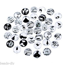 BD 20x Glass Mix Cat Cage 10mm Round Cameo Cabochon for Jewelry  Making