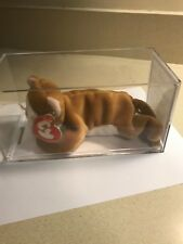 Ty Beanie Babies White Face Belly Nip The Cat 3rd/1st Authenticated Magnificent