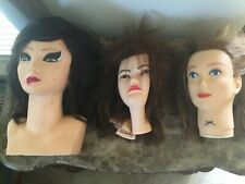 COSMETOLOGY MANNEQUIN MANIKIN TRAINING BURMAX HEAD WITH HAIR 3 piece