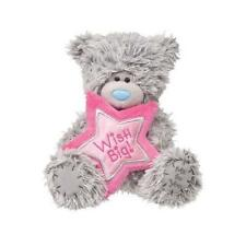 Douglas Cuddle Toys 6'' TATTY TEDDY WISH BIG Birthday Bear With Pink Star ~NEW~