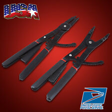 """US 16"""" LARGE Circlip Snap Ring Pliers Set Retaining Ring Ratcheting W/EXTRA Tips"""