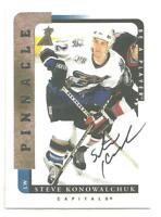 Steve Konowalchuk 1996-97 BAP Be A Player Autograph Signed #173 Capitals