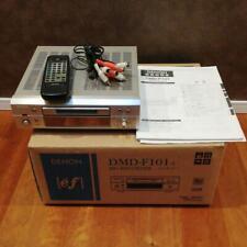 Denon MD Recorder MD Deck DMD-F 101 music audio equipment silver 2003 used