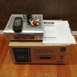 Denon MD Recorder MD Deck DMD-F 101 music audio equipment silver 2003 used