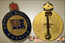 WWII R.S.S.A.I.L.A.  Women's Auxiliary Enamelled  King's Crown Badge