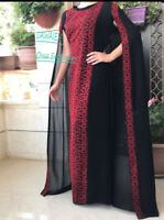 Modern Abaya Thobe Embroidered Palestinian Traditional Arabic Dress Thob