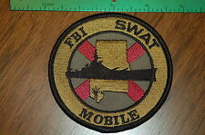 FBI SWAT  Mobile, Alabama   SWAT team Police Patch  BATTLESHIP    L@@K