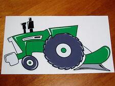 """Oliver tractor"" Fans - Original Artwork DECAL/STICKER Tractor Swag Series LEFT"