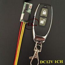 Button Remote Control Switch DC 12V 1 Relay Remote Control NO COM NC Contact RX