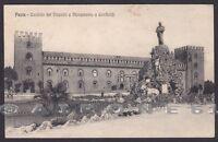PAVIA CITTÀ 48 CASTELLO - MONUMENTO a GARIBALDI Cartolina viagg. 1915 ALTEROCCA