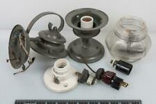 Vintage Metal Outdoor Sconce Wall Lamp Parts Lot g35