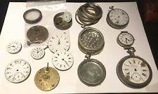 LOT DE PIECES MONTRES GOUSSET CADRAN, BOITIER, REGULATEUR,... POCKET WATCH PART
