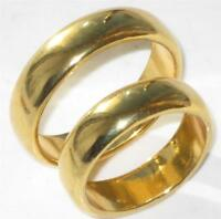 5MM MENS WOMENS  PLAIN WEDDING RING BAND YELLOW GOLD STAINLESS STEEL SIZE T