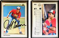 Jeff Huson Signed 1990 Upper Deck #434 Card Montreal Expos Auto Autograph